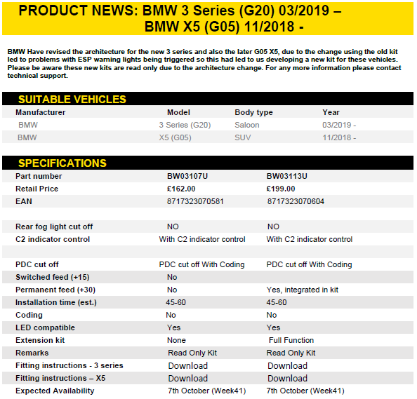 BMW 3 Series G20 / X5 G05