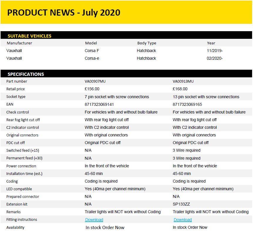 Product News Vauxhall Corsa